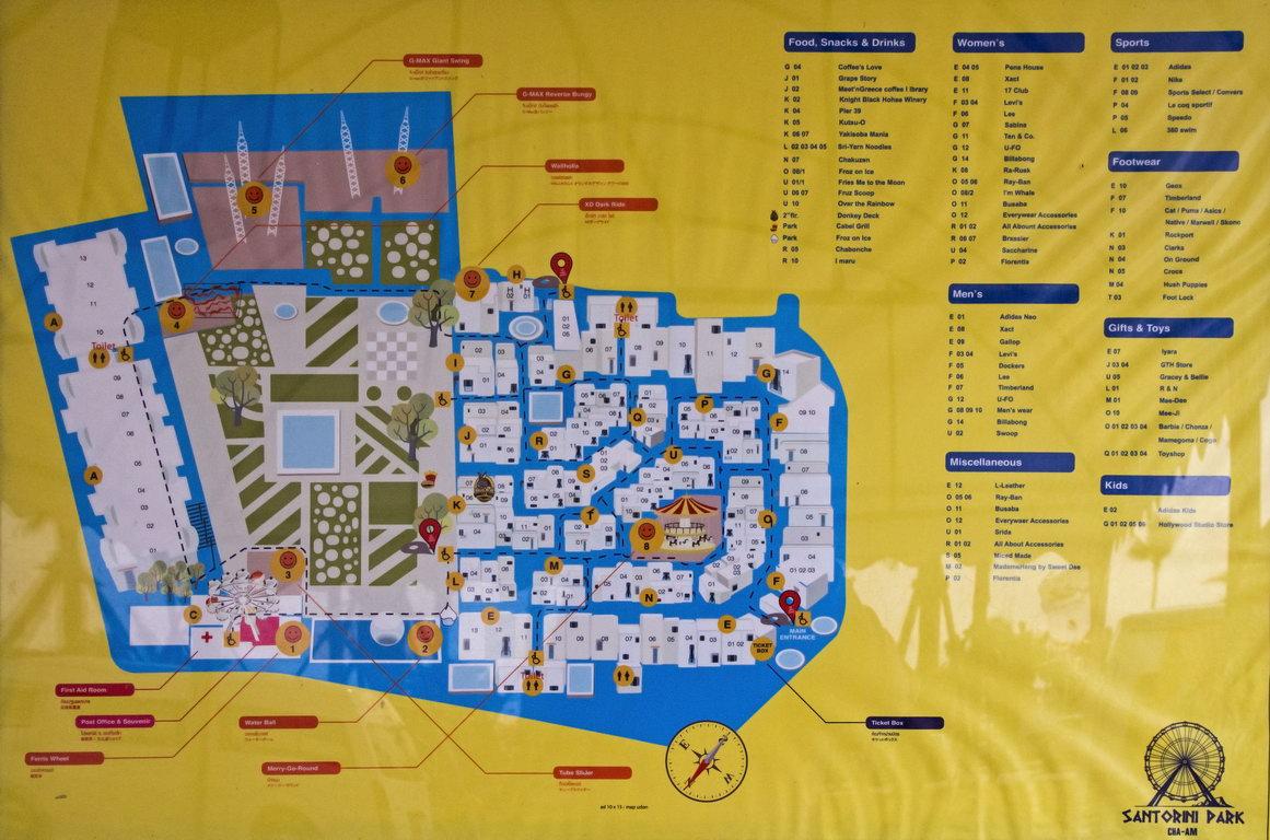 Santorini Park map